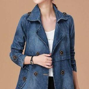 Jackets & Blazers - A-Line Denim Peacoat